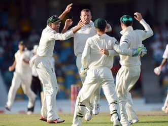 West Indies in trouble after batting collapse