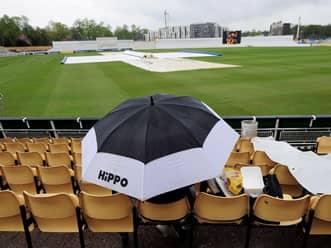Rain delays start of play on day two at Edgbaston