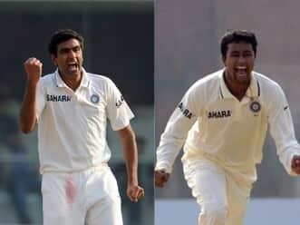 Ashwin and Ojha  take 20 wickets in 3 Tests