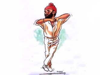 Sourav Ganguly - Caught & bowled Bishan Bedi!