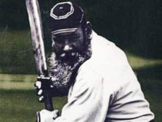 WG Grace's century on debut and the first Test in England