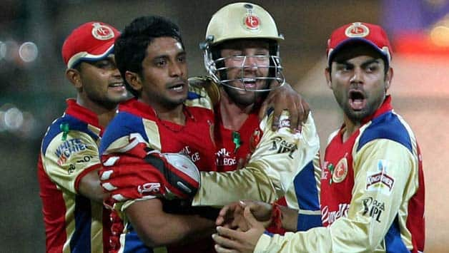 Royal Challengers Bangalore players practice ahead of clash against Pune Warriors India