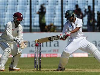 Bangladesh declare at 350 in first Test against West Indies