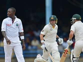 West Indies gain upper-hand against Australia on opening day of second Test