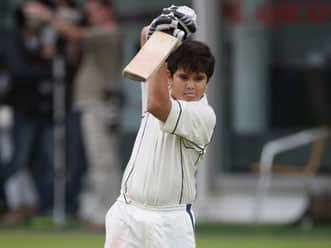 Arjun Tendulkar's destructive batting powers team to victory in Cadence Trophy