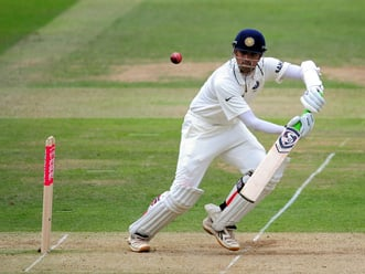 Match hangs in balance as India need a further 378 runs to win