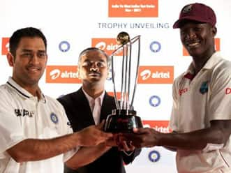 Trophy for India-West Indies Test series unveiled in New Delhi