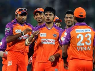 Kochi team arrived in Indore amid tight security