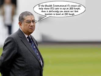 BCCI took decision to train fast bowlers at F1 circuit.