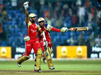 Last ball six takes RCB through to semi-finals of CLT20