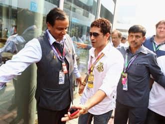 Sachin Tendulkar meets Michael Schumacher ahead of Indian GP