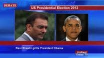 US presidential election candidates Barack Obama, Mitt Romney speak with TV anchor Ravi Shastri!