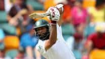 Hashim Amla scores an unbeaten fifty as South Africa reach 186/2 at Tea