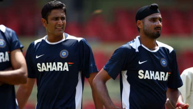 Anil Kumble and Harbhajan Singh