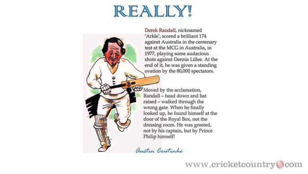 Derek Randall - An Innings That Fittingly Deserved A Royal Welcome!