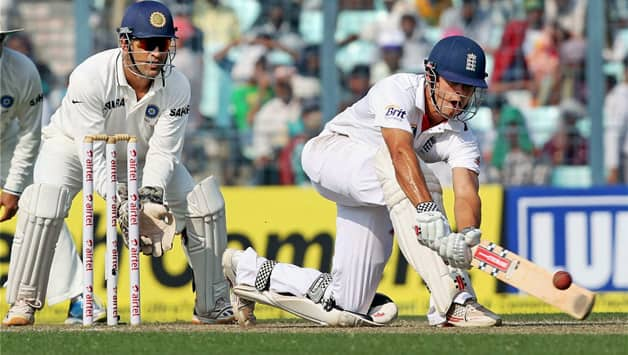 Alastair Cook scores another ton as India struggle on Day Two of Kolkata Test