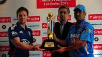India-England T20 series trophy unveiled
