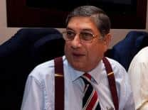 Pakistan and Indian players interact with N Srinivasan on Facebook after Chennai ODI
