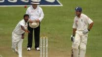 Muttiah Muralitharan narrowly misses taking all 10 wickets in a Test innings