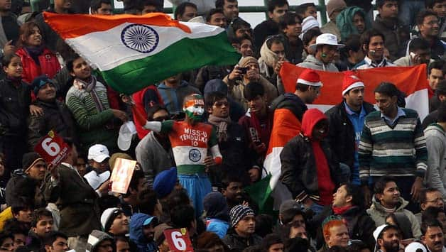 India and Pakistan fans have a ball at Feroze Shah Kotla during third ODI