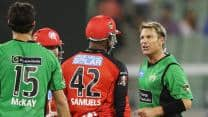 Shane Warne, Marlon Samuels involved in foul-mouthed fight