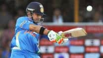 Gautam Gambhir bats at New Delhi nets ahead of second warm-up match against England