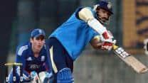 Delhi vs England XI: Shikhar Dhawan and Milind Kumar take Delhi through