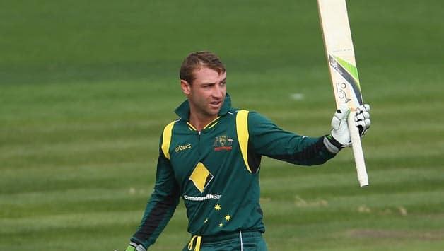 Phil Hughes ton lifts Australia to 247/5 against Sri Lanka in final ODI at Hobart