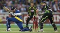 Jayawardene, Thisara propel Sri Lanka to 161 against Australia in 2nd T20