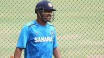 MS Dhoni oversees as India wind up training camp at NCA