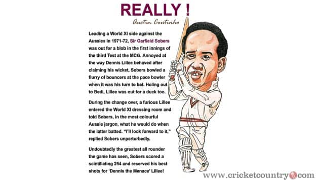 When Sir Garry Sobers paid left-handed compliments to Dennis Lillee!