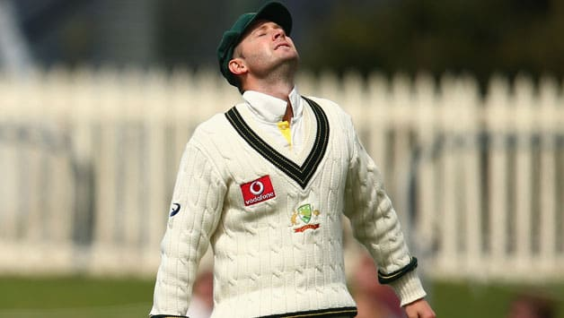Michael Clarke dejected after meek surrender by Australian batsmen