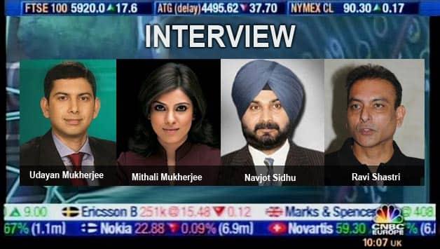 Ravi Shastri and Navjot Sidhu in conversation with CNBC TV18's Udayan Mukherjee and Mithali Mukherjee