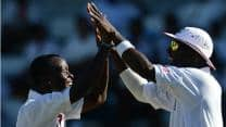 Kemar Roach strikes twice as Zimbabwe reach 91/2 against West Indies at Lunch on Day One