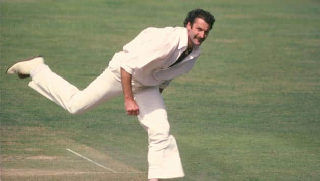 Dennis Lillee knocks over six Englishmen in the Centenary Test