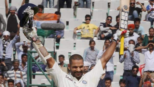 Shikhar Dhawan thrashes Australia on Day 3 of 3rd Test as India reach