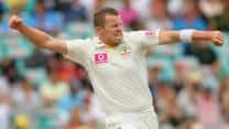Peter Siddle takes five as India bowled out for 499 on Day 4 at Mohali