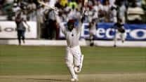 Brian Lara turns almost certain defeat into sensational victory with an epic 153 not out against Australia