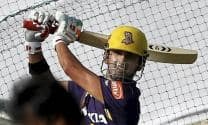 Gautam Gambhir 'looked in fine nick' during Kolkata Knight Riders' net session