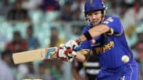 Brad Hodge, Ajinkya Rahane lift Rajasthan Royals to 144/6 against Kolkata Knight Riders