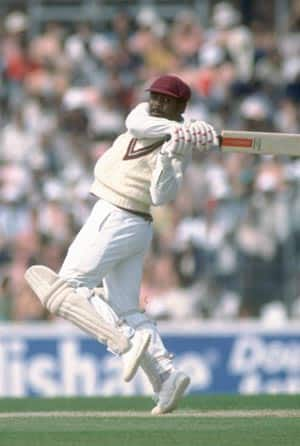 Gordon Greenidge scores 226 in his penultimate Test