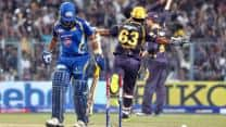 Sachin Tendulkar's b'day spoiled by Sunil Narine during KKR-MI clash
