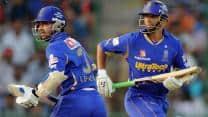 Classical <em>jugalbandi</em>: <em>Guru </em>Rahul Dravid and <em>chela </em>Ajinkya Rahane sing a rare raga in T20 cricket