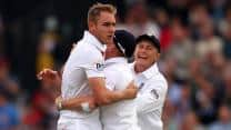 Stuart Broad demolishes New Zealand top order as England close in on win at Lord's