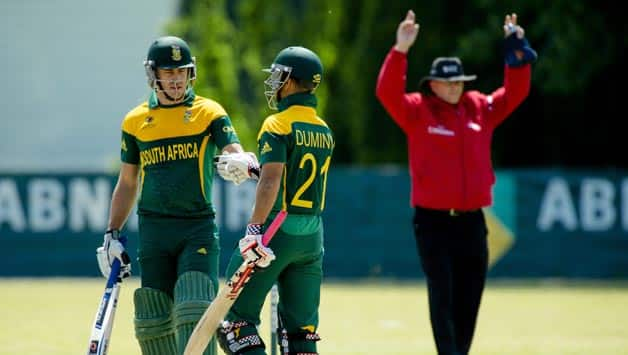 JP Duminy strikes unbeaten ton as South Africa post 341/3 against Netherlands