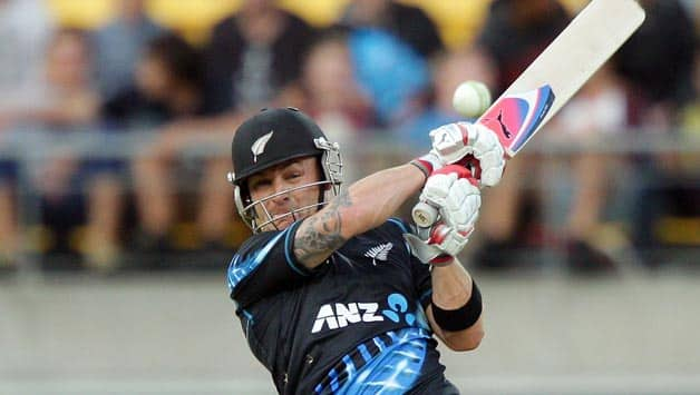 Brendon McCullum, Hamish Rutherford slam fifties as New Zealand post 201/4