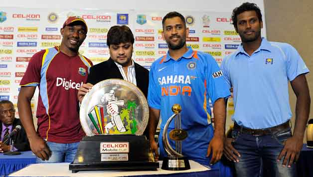 India and Sri Lanka in West Indies — Celkon Mobile Cup Tri-series 2013 Points Table & Team Standings