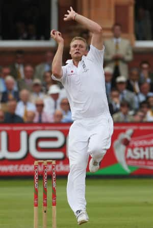 Andrew Flintoff steamrolls Australia to help England win an Ashes Test at Lord's after 75 years