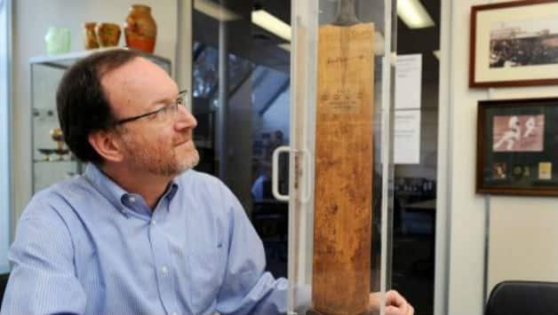 Don Bradman's bat fetches $65,000 at auction