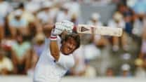 Ian Botham plunders 24 runs in an over off Derek Stirling at The Oval